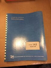Vintage Tektronix 1A2 Plug-In MANUAL in extremely nice condition
