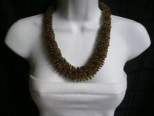 Strand Indonesia Fashion Jewelry Necklace Women Caramel Beige Green Beads Short