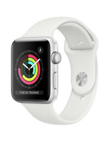 Apple Watch Series 3 - 38mm Silver Casing. White Sports Band. NEW & SEALED