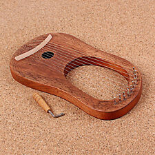 10-String Holz Leier Harfe, Okoume Holz String Instrument mit Tuning Schlüssel,