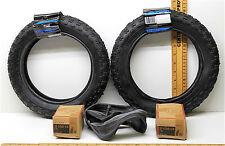 2 Kenda Kids BMX Bike Scooter Tires K-50-037 12-1/2 x 2-1/4 40 PSI + Inner Tubes