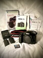 Canon EOS 7D 18.0 MP Digital SLR Camera - Black (Body Only) + Accessories
