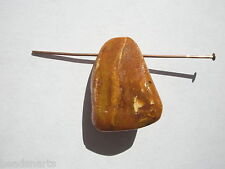 Natural Baltic Amber Top Drilled Lg Nugget Focal Bead - 26x20x11mm - 1