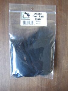 Fly Tying Hareline Arctic Fox Tail Hair - Black