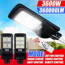 3600W Solar Street Road Light Motion Sensor+RemoteControl Outdoor Yard   L