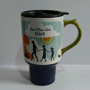 Dayspring Ceramic Travel Mug with Lid 2008 - On the Go Girl - Proverbs 31:25