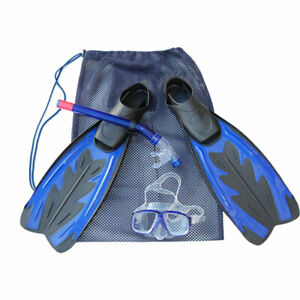 Pocket Fins Snorkeling Swim Scuba flippers and Underwater Mask and snorkel