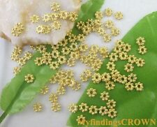 1000PCS Gold plated daisy spacer beads 4mm W307