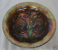 Imperial Open Rose/Lustre Rose Bowl Carnival Blue c1911