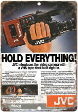 "10"" x 7""  Metal Sign - 1986 JVC Camcorder  - Vintage Look Reproduction"