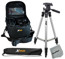 "Xtech 50"" Tripod w/ Case for Advanced Point & Shoot Cameras & small Camcorders"