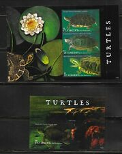 ST. VINCENT Sc 3806-7 NH MINISHEET+S/S of 2011 - TURTLES