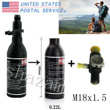 M18x1.5 0.22L 300Bar Aluminum Tank Air Bottle&Regulator For Mountain Climbing