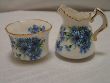 Vintage Hammersley Cornflower Blue Bone China Sugar & Creamer MPN6034,England,EX