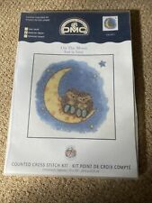 """Country Companions On The Moon Cross Stitch Kit 14 Count DMC 10""""x10"""" K5011"""