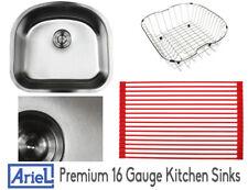 """Ariel Premium 23"""" 16 Gauge Stainless Steel Undermount Kitchen Sink Single Bowl"""