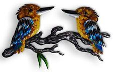 Kookaburra Pair Metal Hanging Wall Art Australian Bird Garden Sculpture *54 cm*