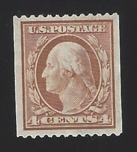 US #350 1908-10 Orange Brown Perf 12 Horz Wmk 191 Mint NG VF SCV $140