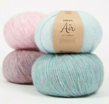 Worsted Weight Baby Alpaca Knitting Yarn, Lightweight Itch-Free DROPS AIR,1.8 oz