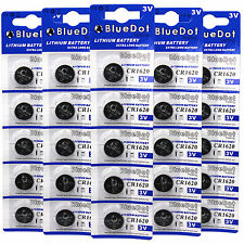 25 CR1620 CR 1620 DL1620 BR1620 3 Volt Lithium Button Cell Battery US Ship USA