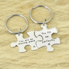 Puzzle Piece Keychains Customized Keychains Couple Keychains Long Distance Gifts