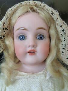 """1880s Kestner #154 DEP JDK 16"""" Antique Bisque Doll on Original Stamped Body"""
