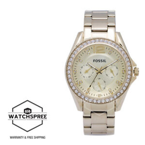Fossil Riley Multifunction Gold Tone Ladies Watch ES3203