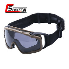 Anti-fog Ballistic Goggle Glasses with Fan Tactical Paintball Military Airsoft
