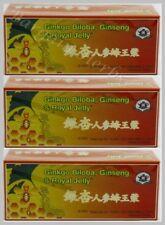 3x Ginkgo Biloba, Ginseng & Royal Jelly 10mlx30 Bottles New Sealed Free Shipping