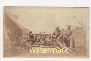 Soldiers at camp, Peckham, CDV