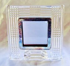 Vintage Waterford Lead Crystal Photograph Picture Desk Frame Early Mod-Late Deco