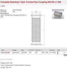 Hositrad Hydraulically Formed Flex Coupling ISOX100/250