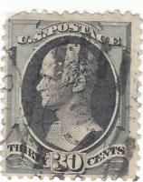 Scott #154 - 30c Black - Hamilton - Used - SCV $275.00