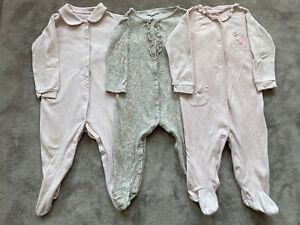 Next / The Little White Company Baby Girl Sleepsuits Bundle 12-18 Months