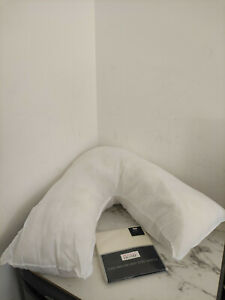 Adam Home V Shaped Pillow With Free Pillowcase Extra Filled Hollow Fiber For Nec