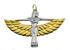 Isis Goddess Egypt Real Sterling Silver 925 & Gold Plated Charm Pendant Jewelry