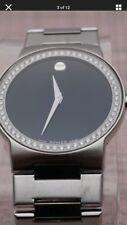 Swiss Movado Safiro 0.896 VS Diamond Bezel,Stainless Steel Men's Model# 0605852