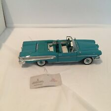 Franklin Mint 1958 Edsel Citation Convertible 1/24 Scale Turquoise/ White