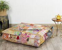 88.9cm Patchwork Handmade Coussin Housse Indien Grand Carré Pouf Chien Lit