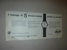 ADVERTISING PUBBLICITA'  orologio TISSOT Super Sideral      -- 1953