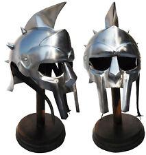 Medieval Helmet of the Spaniard Maximus Roman Gladiator 18 Gauge Knight Armor