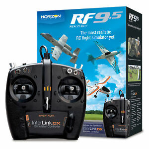 Realflight 9.5 RC Airplane Flight Simulator w/ Interlink DX Controller MD 2 MD2