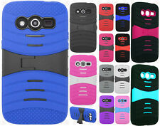 T-Mobile Samsung Galaxy Avant G386T Hard Gel Rubber KICKSTAND Case Phone Cover