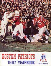 Vintage 1967 Boston Patriots Yearbook AFL Cappelletti Buoniconti Parilli