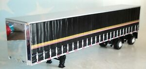 DCP BLACK GOLD SPREAD AXLE TAUTLINER UTILITY TRAILER 1/64 60-0753 T