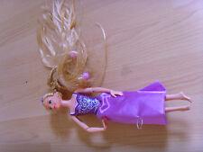 Muñeca Disney Princesa Rapunzel Enredados Vestido Rosa Cabello púrpura
