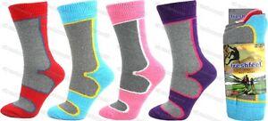 3 Pairs Ladies Thermal Hiking Boot Socks Thick Winter Warm Adults Womens Walking
