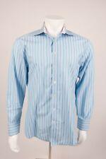 Ted Baker London Men's Dress Shirt 16.5 34/35 Blue Purple Striped Button Front