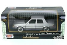 1/24 Scale 1983 Plymouth Reliant Silver American Classics Motormax #73200AC
