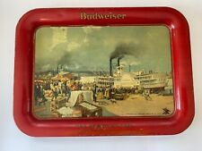 1914 Budweiser Beer Tray Pre-Prohibition Steamboat Anheuser-Busch